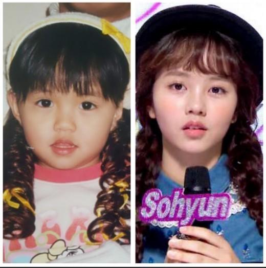 こちらはキム・ソヒョンの幼少時代♡