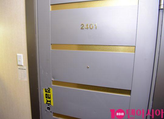 ジョンヒョンが発見された現場2401号室(宿泊先のオフィステル)