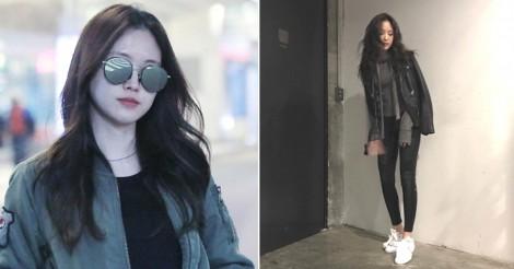 真似する韓国女子が急上昇中♡Apinkナウンのレギンスコーデまとめ! | 韓国情報サイト 모으다[モウダ]